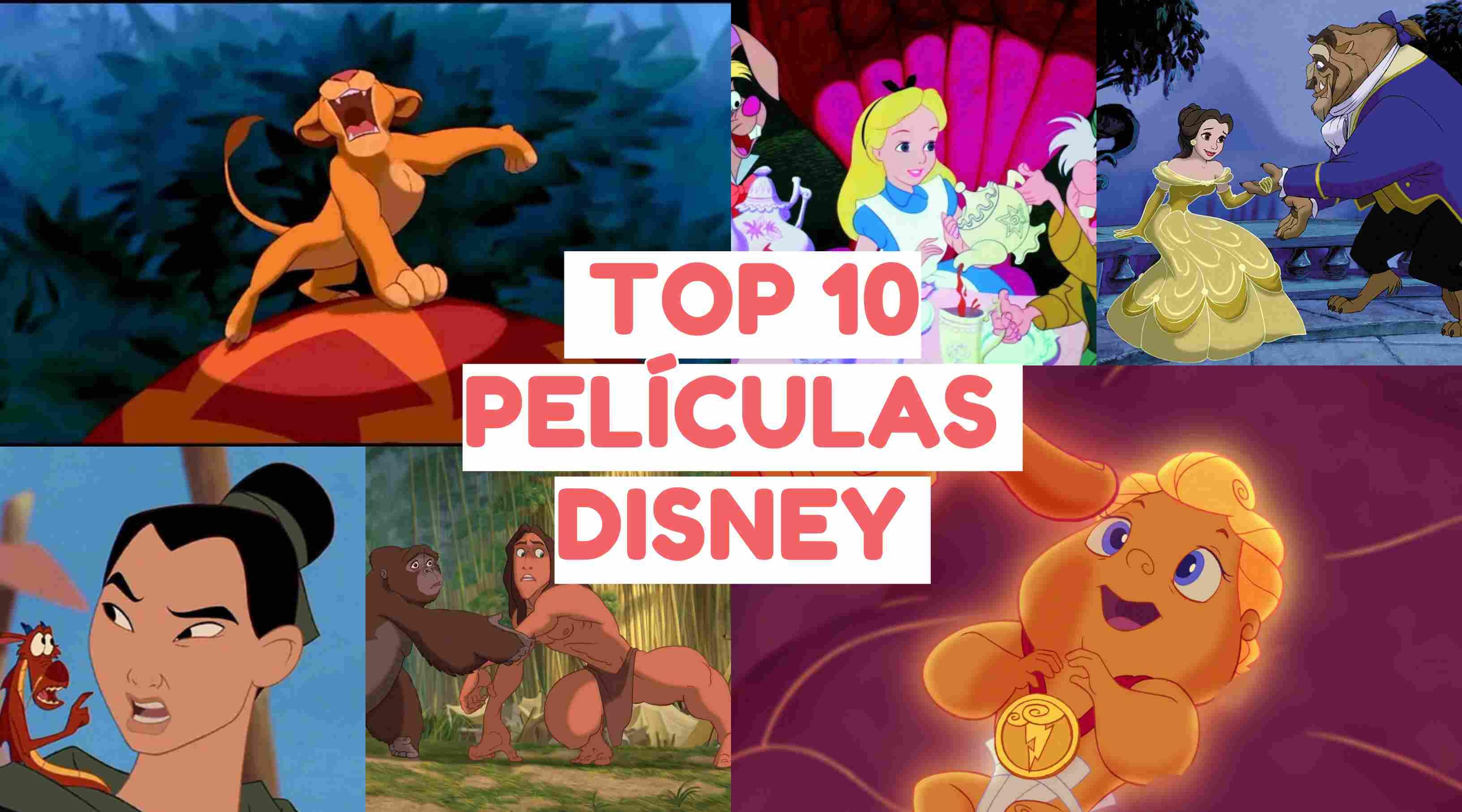 Las 10 mejores PELÍCULAS DISNEY de la historia de la animación