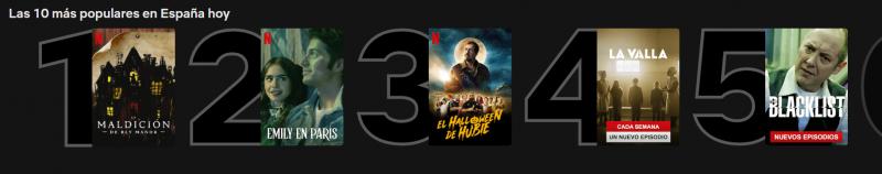 Las 10 series más populares de Netflix